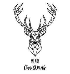 Geometric Reindeer Christmas card vector image vector image