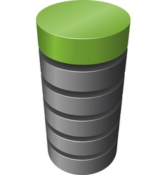 layered cylinder vector image