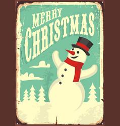 vintage christmas sign vector image