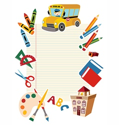 Back to school tools vector image