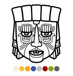 indian aztec african mexican tribal mask vector image vector image