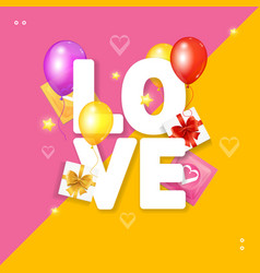 love card concept vector image vector image