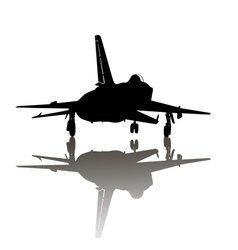 Military plane take off vector image