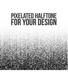 pixelated halftone gradation vector image vector image
