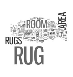 Area rug buyers guide text word cloud concept vector