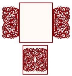 layout wedding invitation vector image vector image