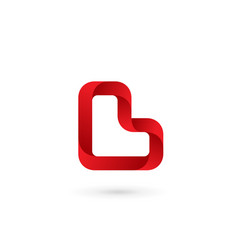 letter l heart logo icon design template elements vector image vector image