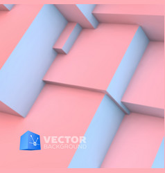 Abstract background with rose quartz and serenity vector