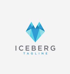 Abstract modern fox iceberg logo icon vector