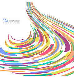 abstract of colorful stripe line pattern mesh vector image