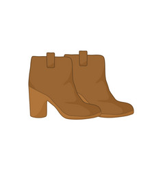 Ankle boots leather fashion style item vector