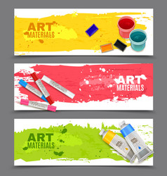 Artistic horizontal banners set vector