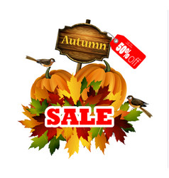 Autumn sale concept vector