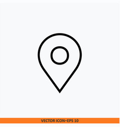 basic rgb thin line pin point location icon black vector image