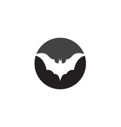 bat icon logo template vector image