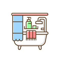 bathroom rgb color icon vector image