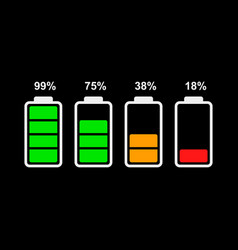 battery indicator icon vector image