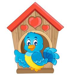 Bird nesting box theme image 1 vector