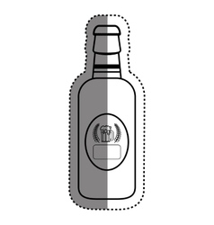 Bottle of beer vector