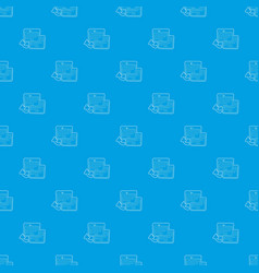 business card pattern seamless blue vector image