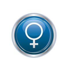 Button with female symbol vector image