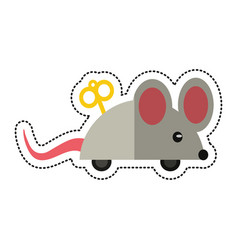 Cartoon april fools day mouse surprise vector