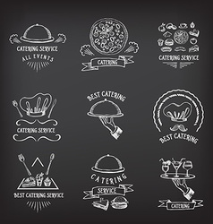 Catering service design logo vector