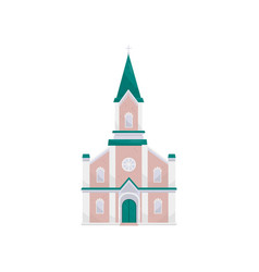 christian protestant church building vector image