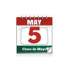 cinco de mayo holiday date in calendar vector image