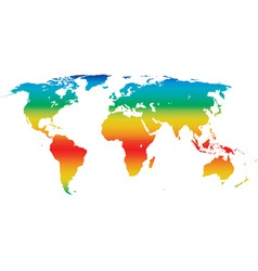 Climate world map vector