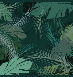 coconut leaf pattern background tropical palm vector image