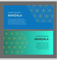 collection of geometric colored banner can be vector image