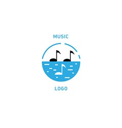 Creative musical logo double meaning vector