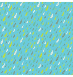 Cute seamless childish texture with colored rains vector image