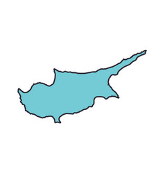 cyprus map territory icon cartoon style vector image