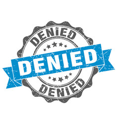 Denied stamp sign seal vector