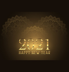 Elegant happy new year background with decorative vector