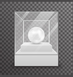 glass box isolated 3d realistic shop mockup vector image