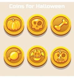 Gold coins for Halloween vector
