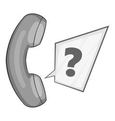 Handset icon gray monochrome style vector