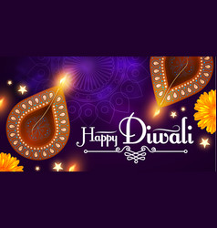 Happy diwali traditional indian festival vector