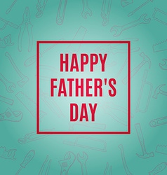 happy fathers typographical background with hand vector image