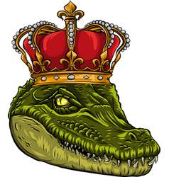 Head king crocodile design vector