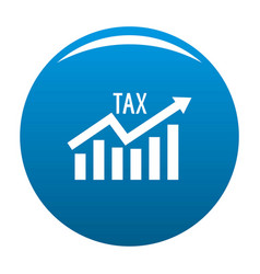 High tax icon blue vector