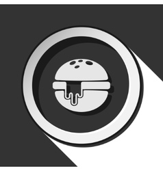 Icon - hamburger with melted cheese and shadow vector