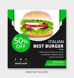 instagram post ads vector image