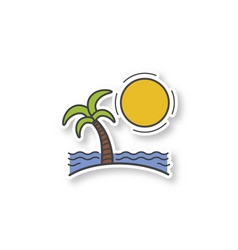 island patch vector image