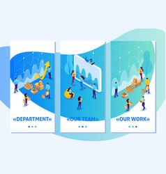 Isometric digital procurement marketing research vector