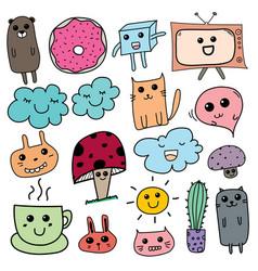 kawaii doodle for kids vector image