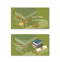lawyers company business card template vector image